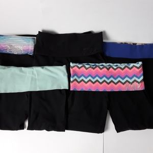 "Victoria's secret ""Pink "" yoga pants. 5 pairs"